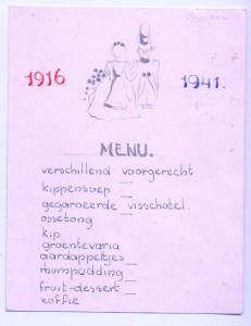 1941, 1916, huwelijksdiner Thunnissen-Swarttouw