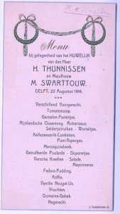 1916, 22 augustus, huwelijk TH-SW